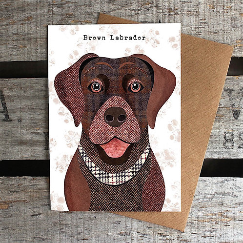 PAW56 Brown Labrador Card