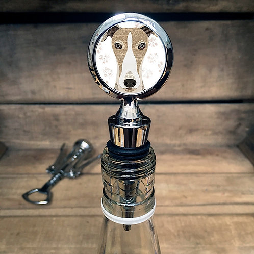 Greyhound Dog Bottle Stopper