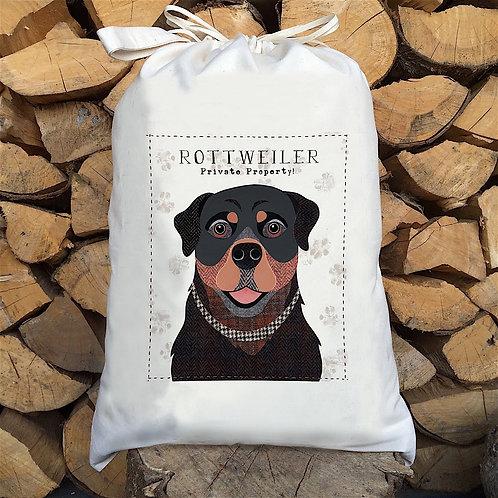Rottweiler Dog Personalised Large Drawstring Sack
