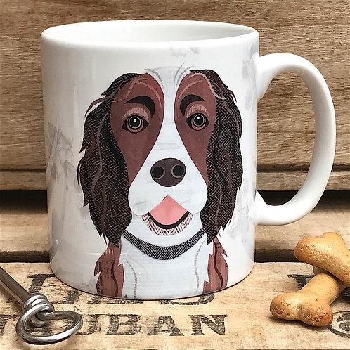 Liver & White Springer Spaniel Dog Mug