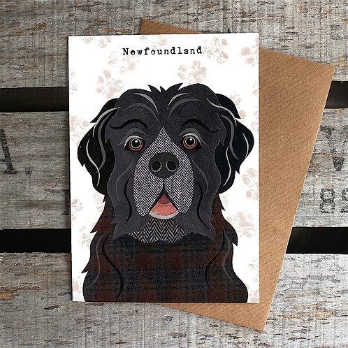 PAW63 Newfoundland Dog Card