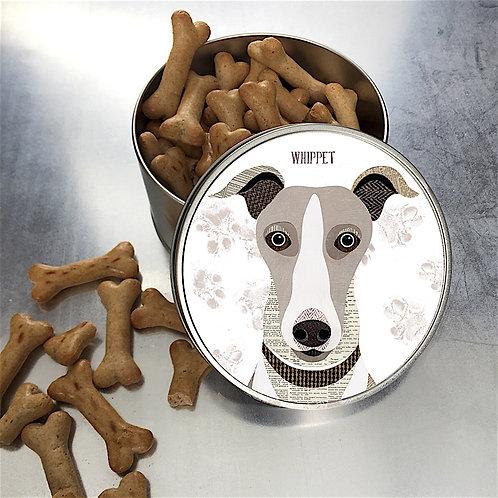 Whippet Dog Tin