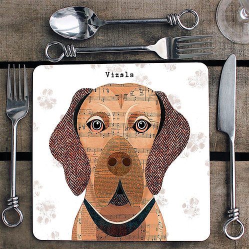 Vizsla dog  Placemat/Coaster
