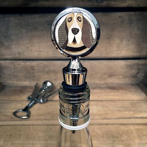 Basset Hound Dog Bottle Stopper