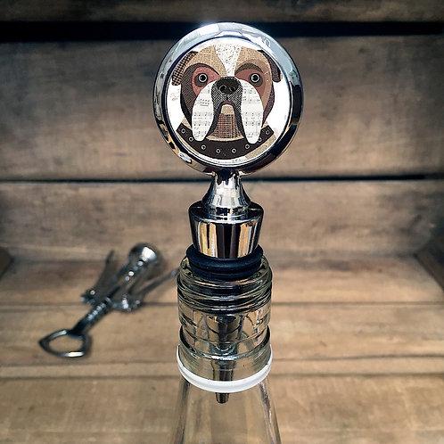 English Dog Bottle Stopper