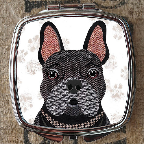 Black Frenchie Dog Compact Mirror