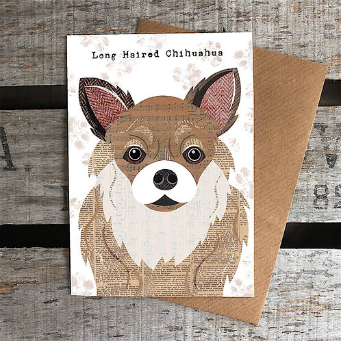 PAW62 Long Haired Chihuahua Card
