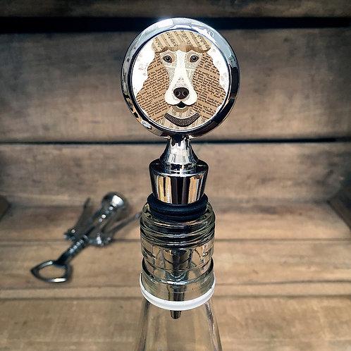 Poodle Dog Bottle Stopper