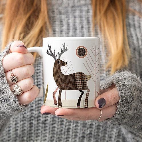 Tweed Stag Personalised Mug