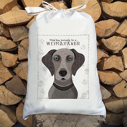 Weimaraner Dog Sack by Simon Hart