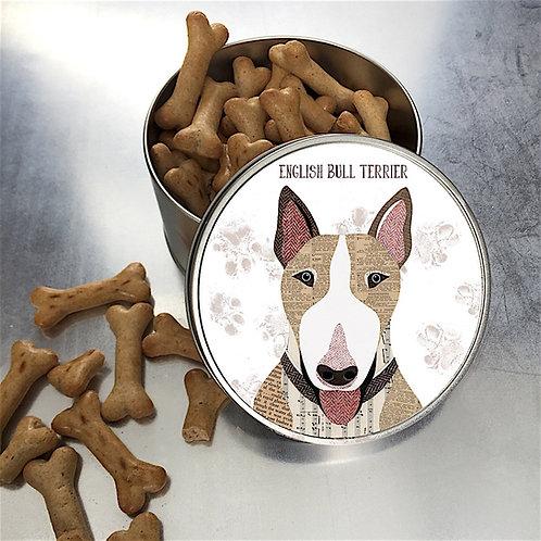 English Bull Terrier Dog Tin