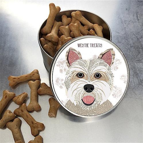 Westie Dog Tin