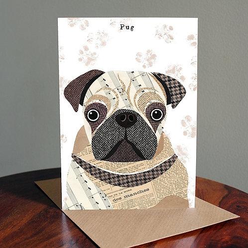 PAW10 - Pug Dog Card