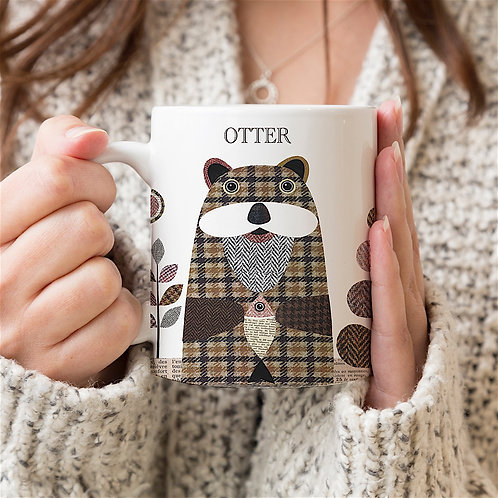 Tweed Otter Personalised Mug