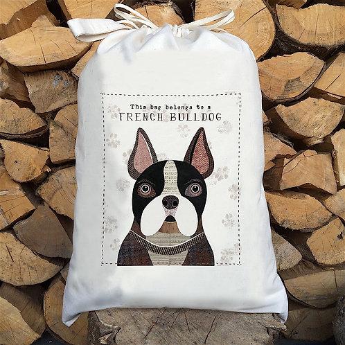 French Bulldog Personalised Large Drawstring Sack