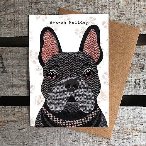 PAW59 Black French Bulldog Card