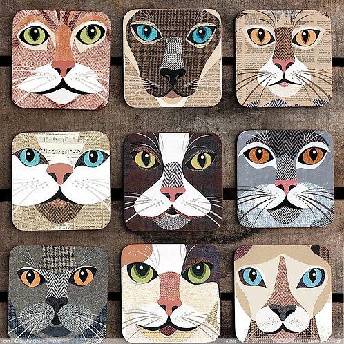 Cat Coaster 'Close Up' sets