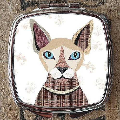 Sphynx Cat Compact Mirror