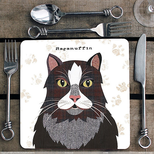 Ragamuffin Cat Placemat