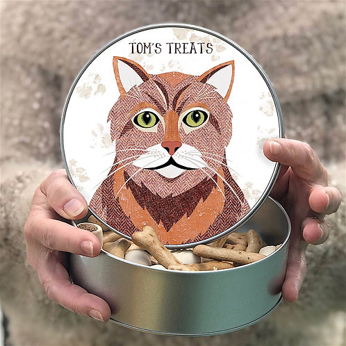 Personalised Ginger Cat Tin