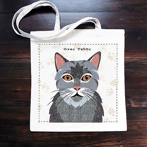 Grey Tabby Cat Bag
