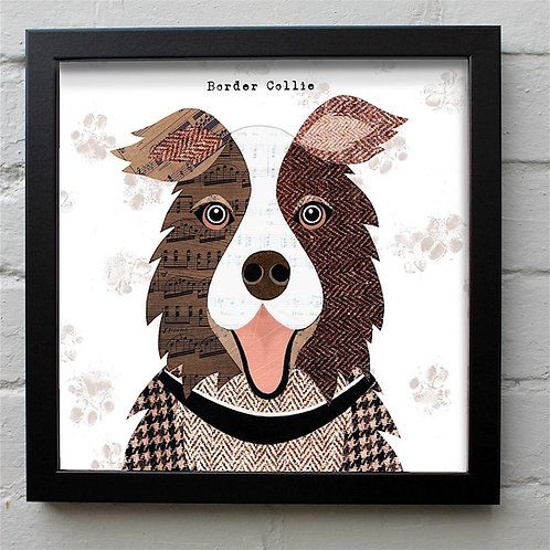 Brown & White Collie Dog Art Print
