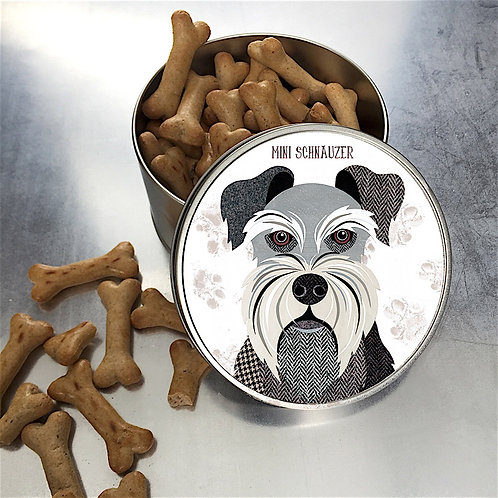 Mini Schnauzer Dog Tin