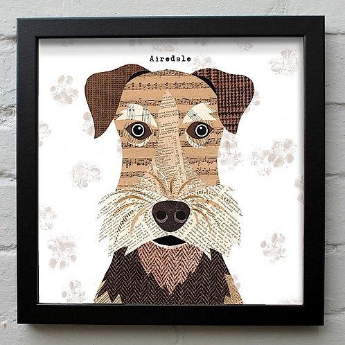 Airedale Dog Art Print