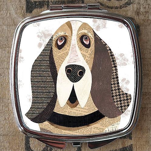 Basset Hound Compact Mirror