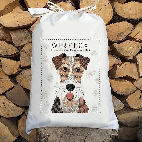 Wirefox Terrier Dog Sack by Simon Hart