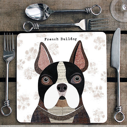 French Bulldog Placemat/Coaster