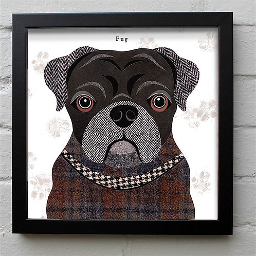Black Pug Dog Art Print