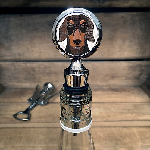 Dachshund Dog Bottle Stopper