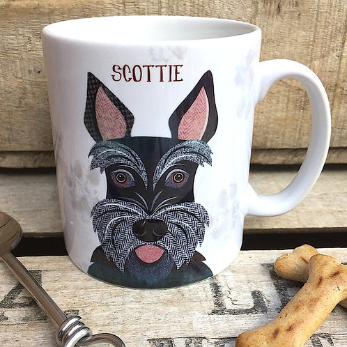 Scottie dog mug