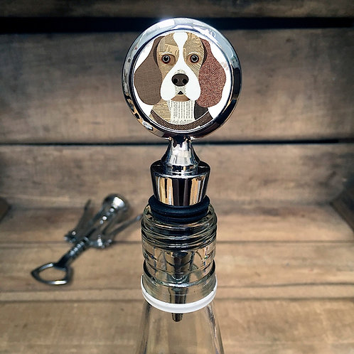 Beagle Dog Bottle Stopper