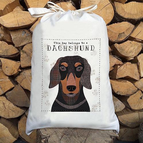 Dachshund Dog Personalised Large Drawstring Sack
