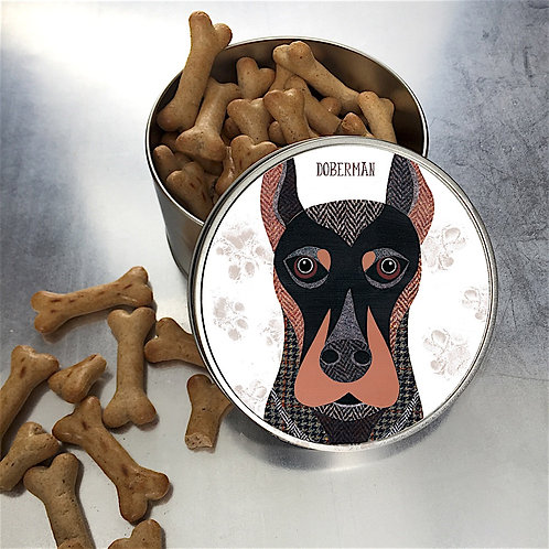 Doberman Dog Tin