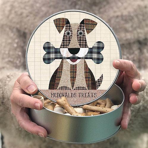 Personalised 'Dog and Bone' Tin