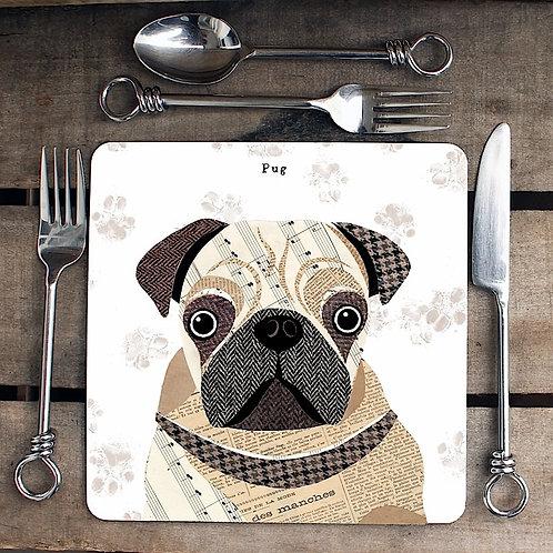 Pug Placemat/Coaster