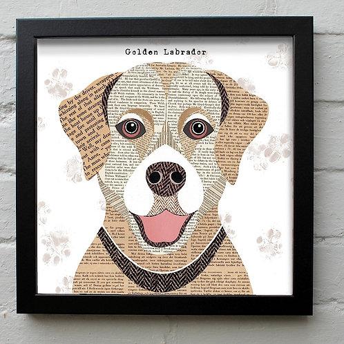 Golden Labrador Dog Art Print