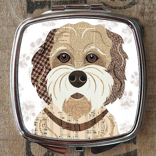 Buff Cockapoo Dog Compact Mirror