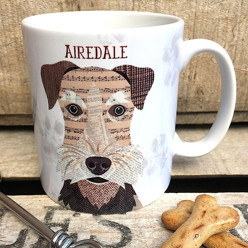 Airedale dog mug
