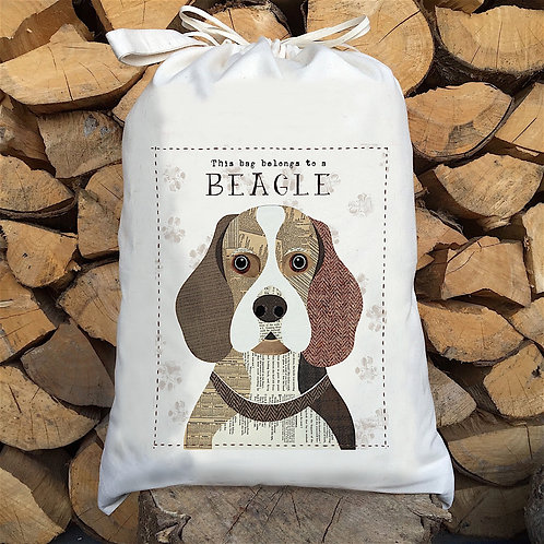 Beagle Dog Personalised Large Drawstring Sack