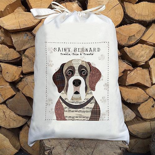 Saint Bernard Dog Sack by Simon Hart