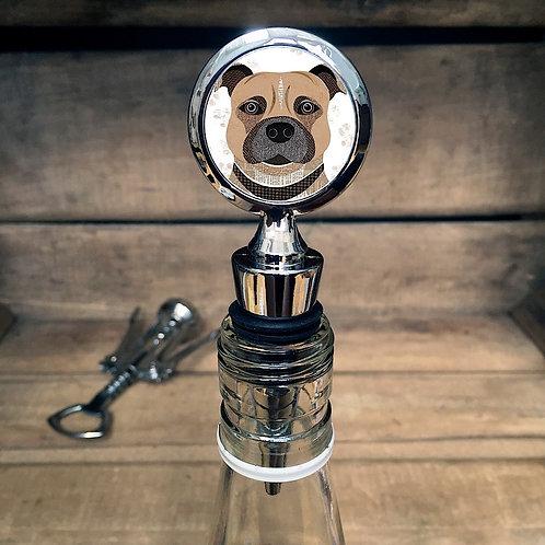 Staffie Dog Bottle Stopper