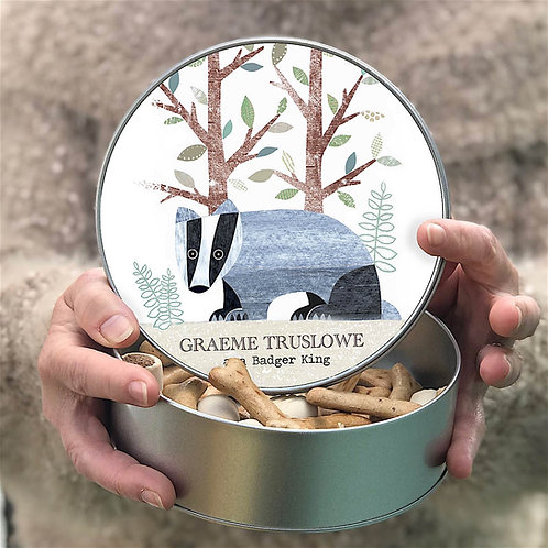 Personalised Badger Tin