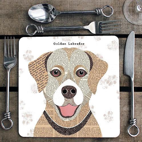 Golden Labrador Placemat/Coaster