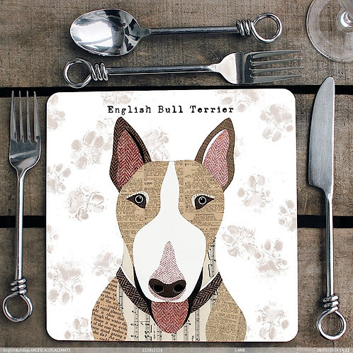 English Bull Terrier Placemat/Coaster
