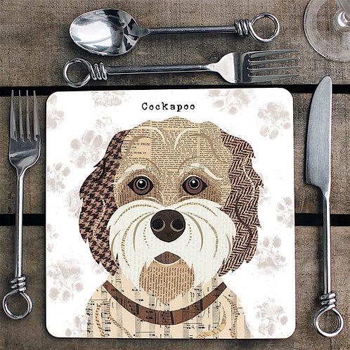 Buff Cockapoo dog  Placemat/Coaster