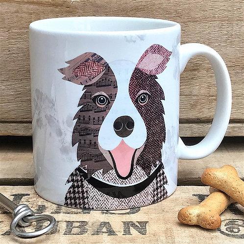 Brown & White Collie Dog Mug